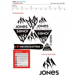 Jones Snowboards Sticker Pack