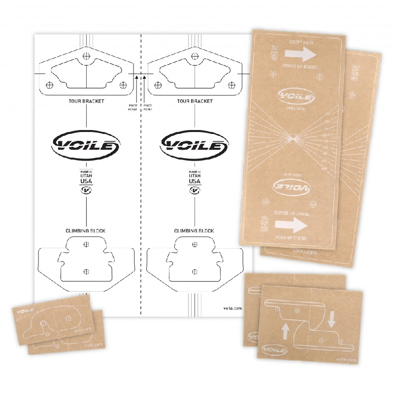 Voile Mounting Template